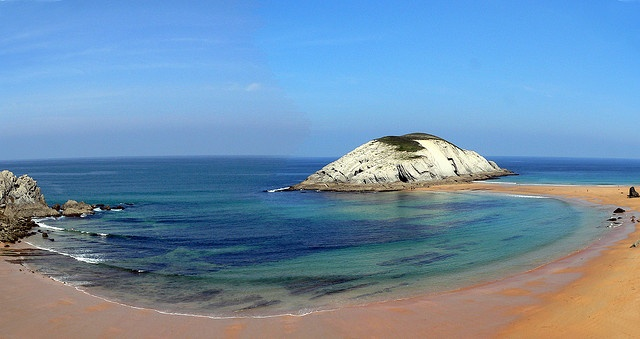 Playa de Covachos, Cantabria, Spain.