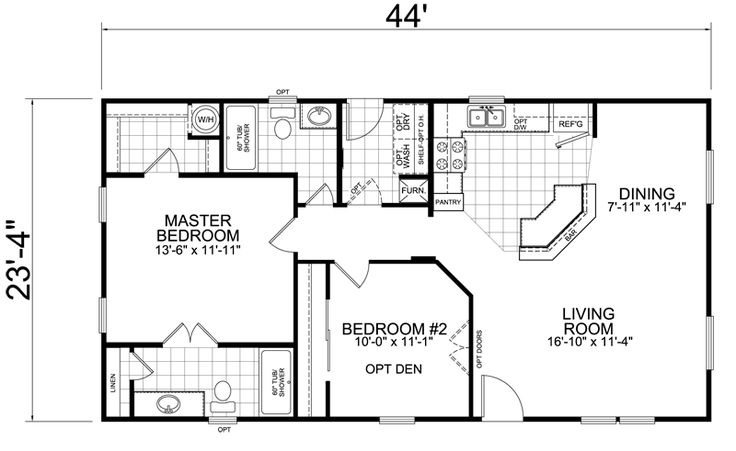 Little House on the Trailer | Home: 24 x 44: 2 Bed, 2 Bath, 1026 sq. ft. (practically our apartment in Virginia but as a house)