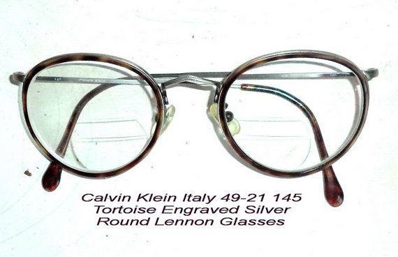 80s CK Calvin Klein Round Filigree Silver by MushkaVintage3