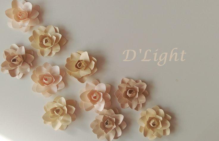 Paper Flowers. Gardenias. Paper Gardenias