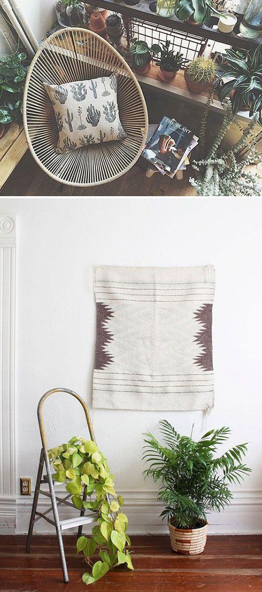 indoor plants and home furnishings. / sfgirlbybay