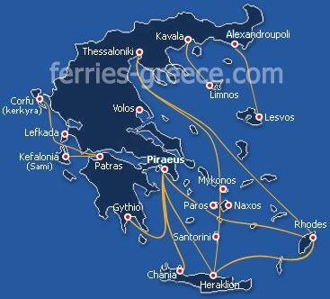 Bateaux pour les îles Grecques