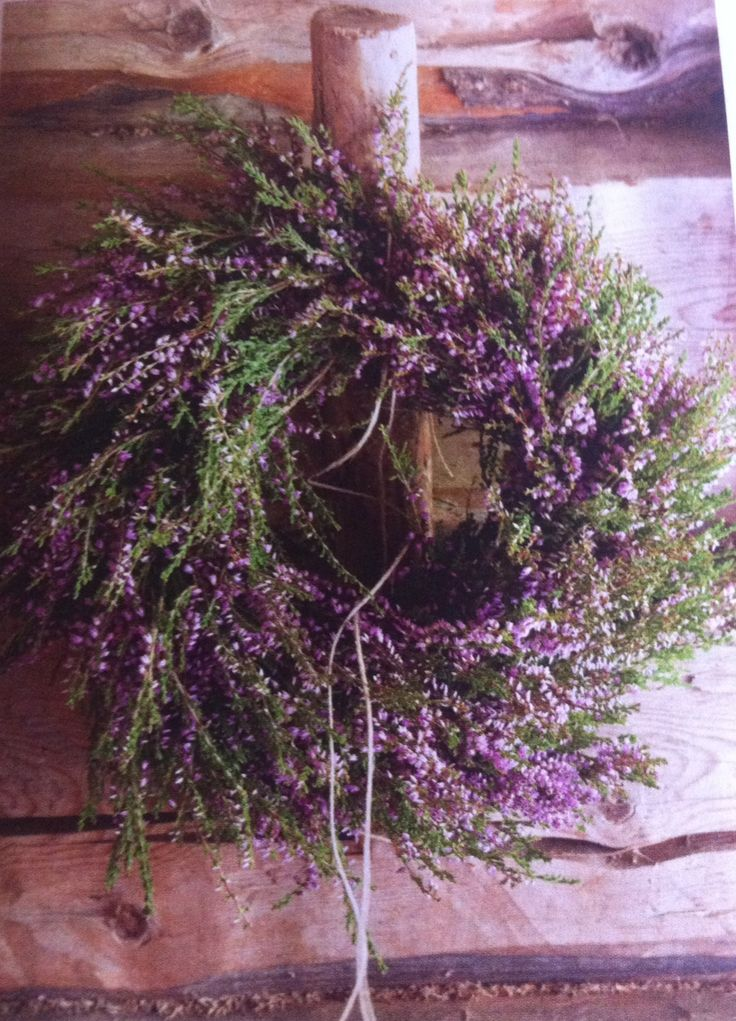 Heather flower wreath Lev landlig magazine 6/2014