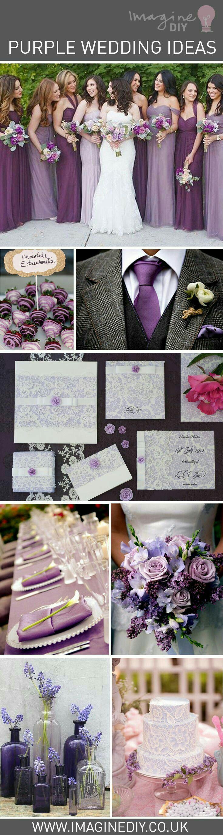 Ideas de bodas en púrpura