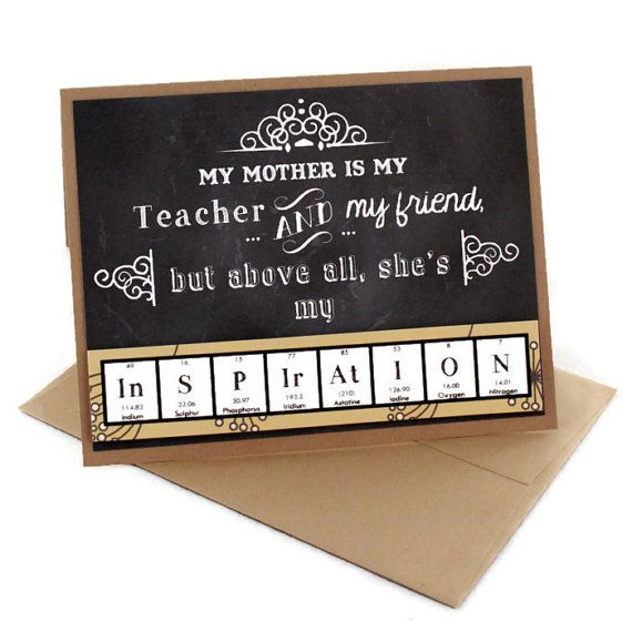 Mothers Day Card Science Chemistry Mom Mum Gift by ShopGibberish, $4.50