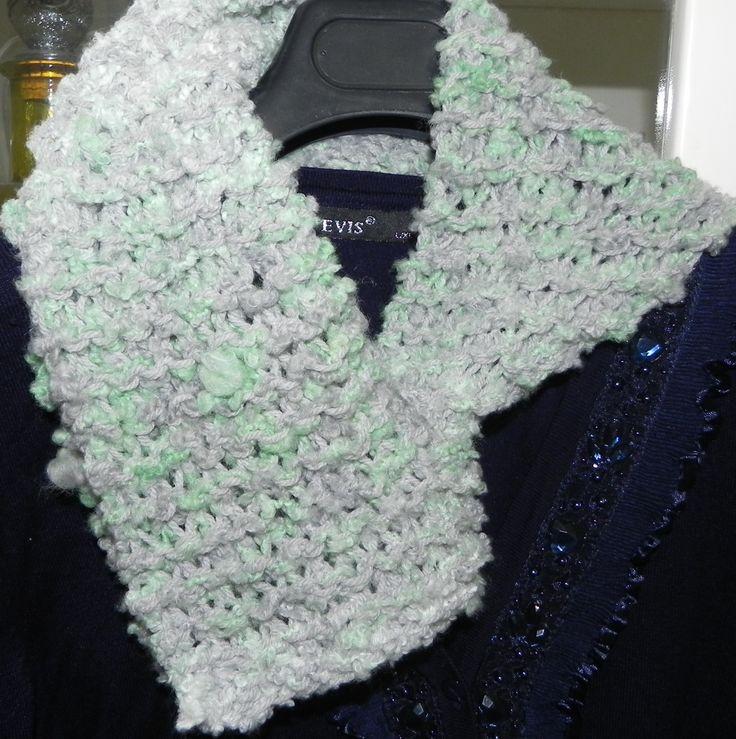 sciarpa triangolo grigio-verde acqua