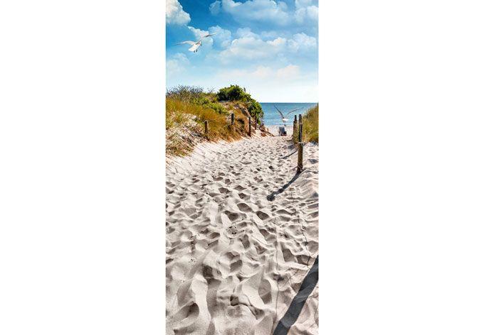 Deursticker Naar het Strand