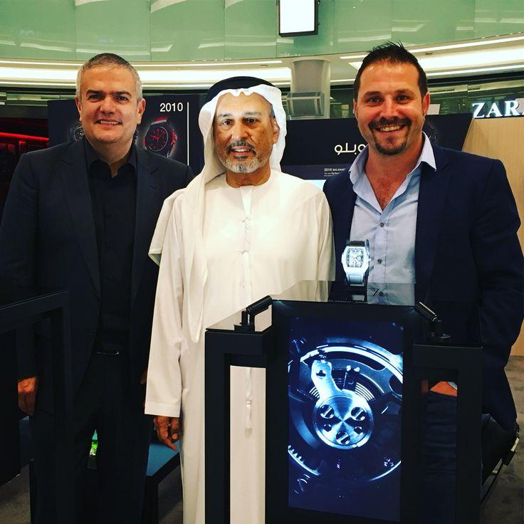 Showtime! #Dubai @seddiqi_uae Hamid Seddiqi @r_rguadalupe @Hublot #RaptorDisplayCase on tour