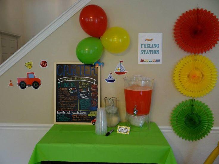 Transportation birthday party- fueling station