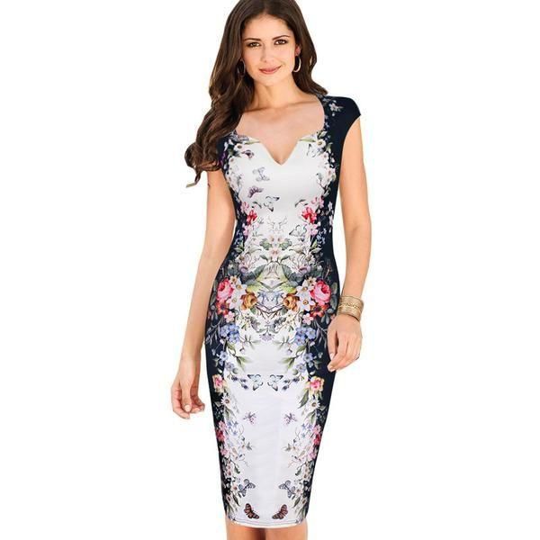 Elegant Floral Casual Party dress