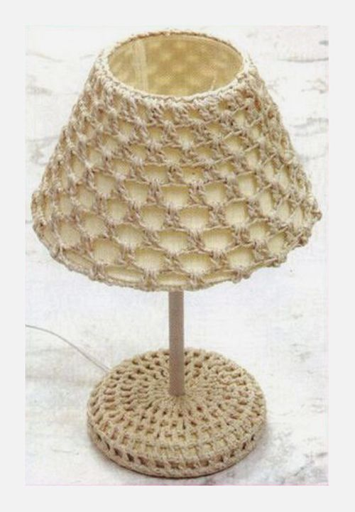 Crochet lamp - diagrams & free pattern ༺✿Teresa Restegui http://www.pinterest.com/teretegui/✿༻