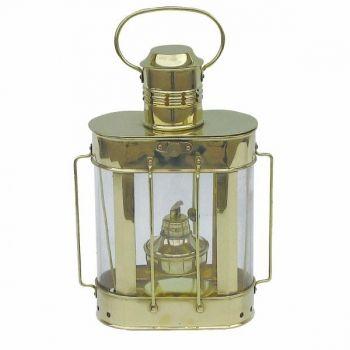 Kabelgattslampe Messing, Petroleumbrenner, H: 27cm