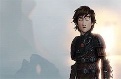 Love this gif me to astrid looks so happy to see hiccup so confident