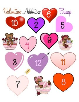 here is a valentine version of the game bump i hope it is useful for practicing addition in your class please check out my tpt store for many more