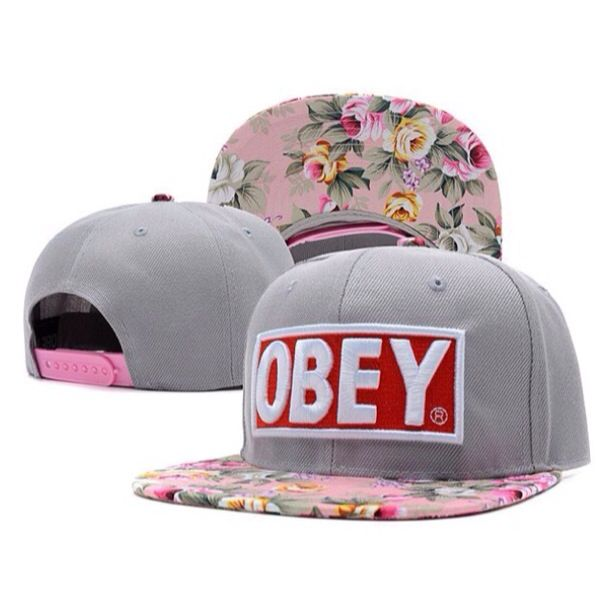 Obey snapback caps unisex caps hats snapback hat custom cap obey floral hats  fashion summer colorful snapbacks-in Baseball Caps from Appare. 09b2a53f6856