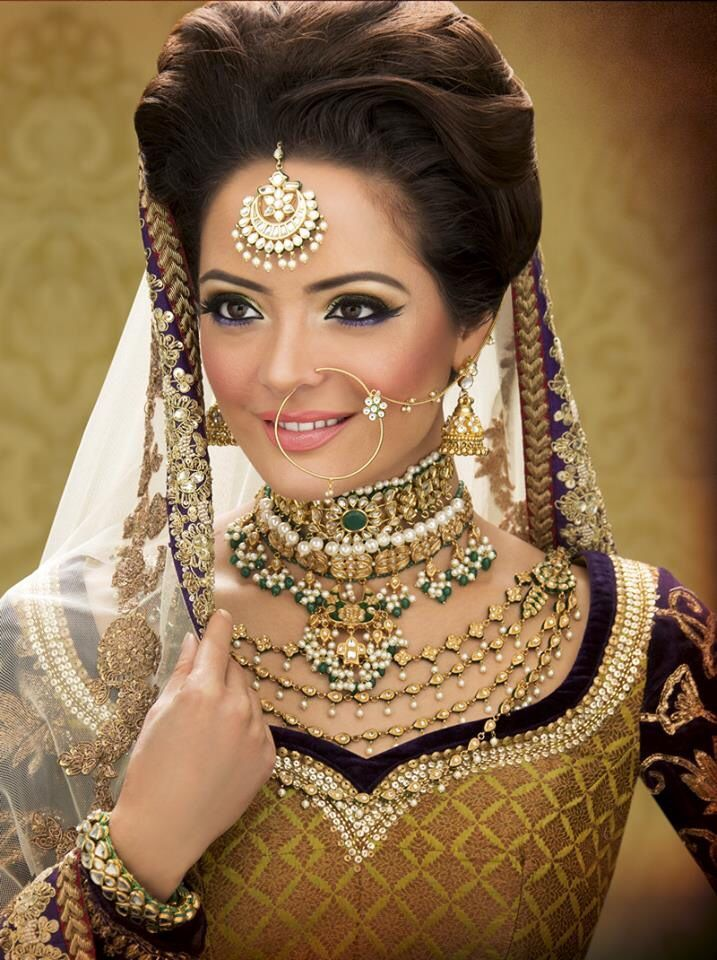 Pakistani Bridal Wedding hairstyles 2015-2016