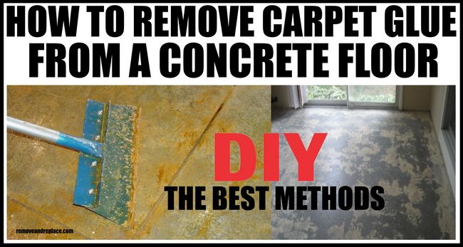 how to remove carpet glue from a concrete slab