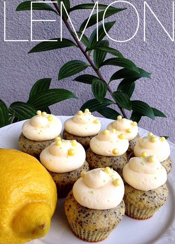 Citronové cupcakes s mákem