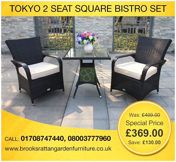 Buy High Quality 2 Seater Square Bistro Set + Free Delivery Visit: Http:/