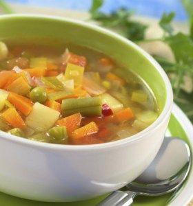 Varias recetas de sopas de verduras
