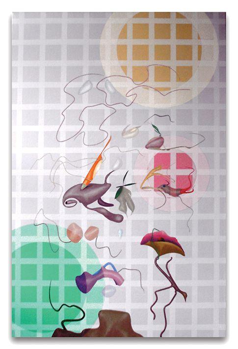 2001- Crop circles, acrilici su tela, cm 120x80