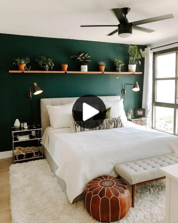 リトアーモンドクリームの女王ヘッドボード In 2020 Green Bedroom Walls Bedroom Interior Bedroom Green