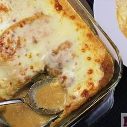 Pastel Azteca – Layered Chicken enchiladas  on BigOven: This recipe is great for parties and gatherings. It's easy to assemble and delivers all the flavor of the enchiladas without the extra work.