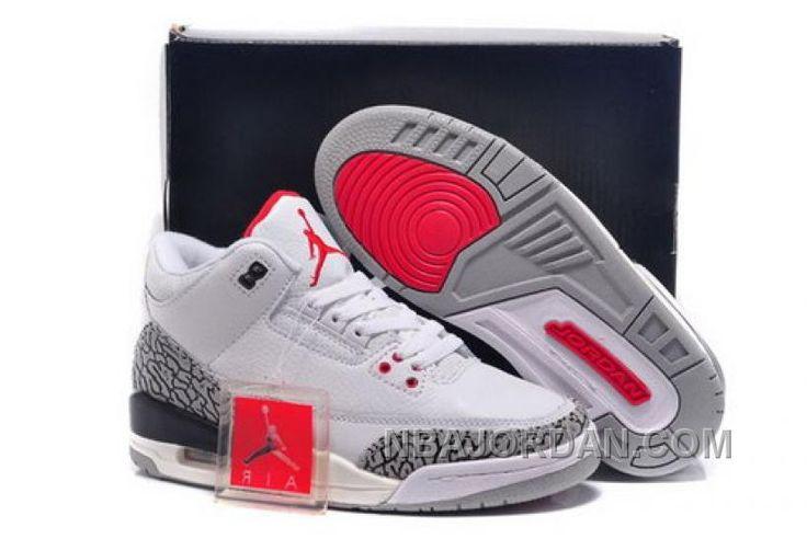 http://www.nbajordan.com/low-cost-nike-air-jordan-iii-3-retro-womens-shoes-new-white-red-black-special.html LOW COST NIKE AIR JORDAN III 3 RETRO WOMENS SHOES NEW WHITE RED BLACK SPECIAL Only $93.00 , Free Shipping!