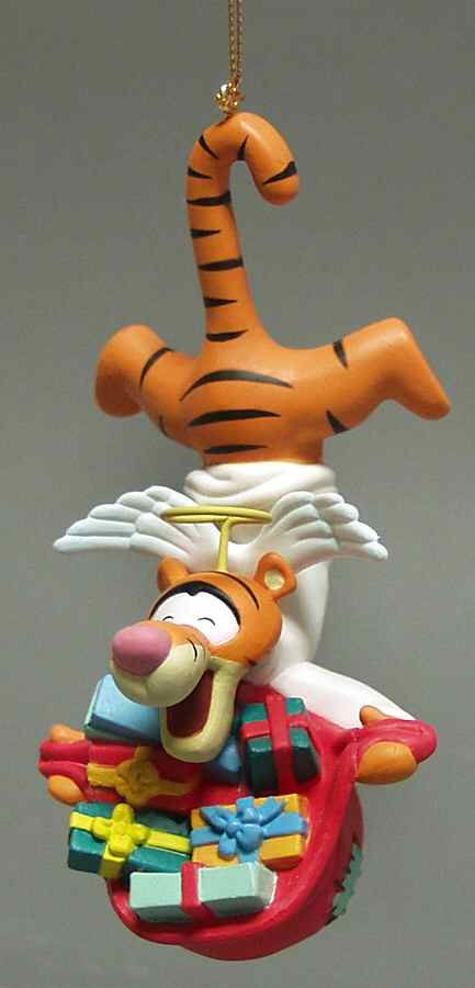Tigger Christmas Ornaments.Grolier Disney Christmas Ornament Tigger Angel Boxed