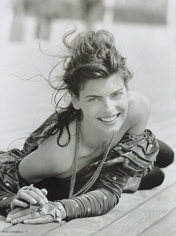 ☆ Linda Evangelista | Photography by Peter Lindbergh | For Vogue Magazine UK…