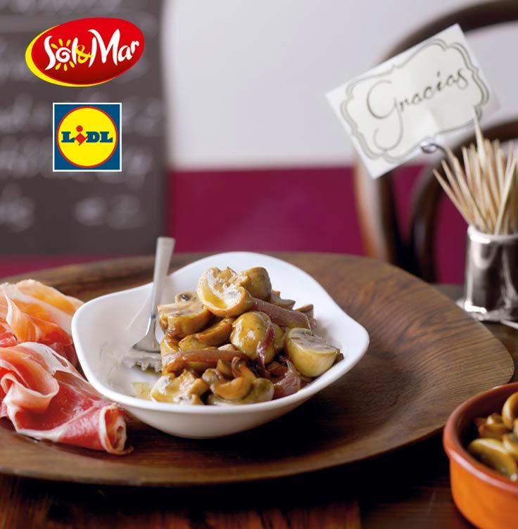 Marynowane pieczarki.Kuchnia Lidla - Lidl Polska. #lidl #solandmar #pieczarki #