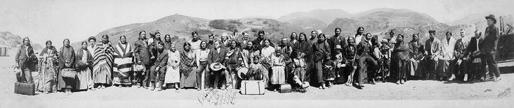 """""""H. A. Brooks. June 1916. The Best Indians I have ever glorified in Pictures"""" at an unspecified site, presumably in California"""" - sad history!"""