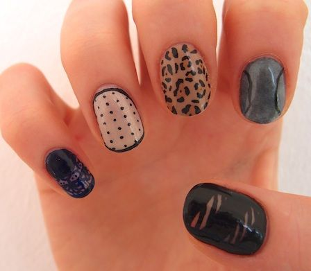These are all kinds of awesome.: Cute Nails, Manicures Ideas, Amazing Nails Art, Victoria Beckham, Animal Prints, Sweet Nails, Beautiful Blog, Edgy Nails, Chic Nails