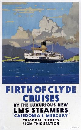 'Firth of Clyde Cruises', LMS poster, 1923-1947., Wilkinson, Norman