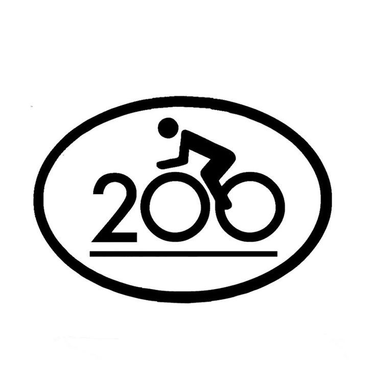Wholesale 10pcs/lot 20pcs/lot Cycling Double Century Vinyl Car Sticker Cycling Bike Riding Truck Bumper Decal