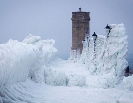 Frozen Waves on the coast of Senj, Croatia on the Adriatic Sea
