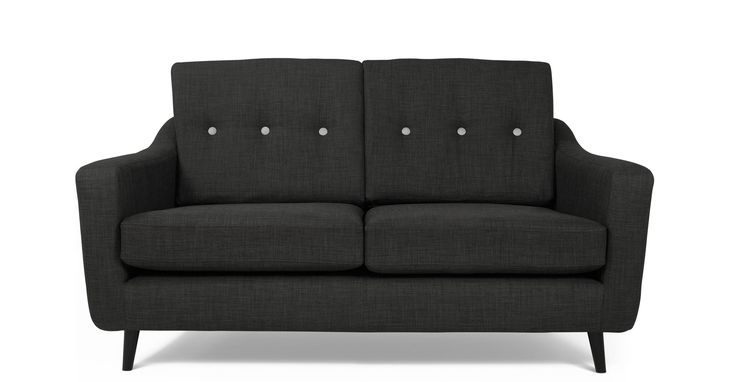 Redford 2 Seater Sofa, Manta Grey and Contrast Buttons