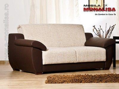 O canapea extensibila 2 locuri cu lada la pret foarte avantajos