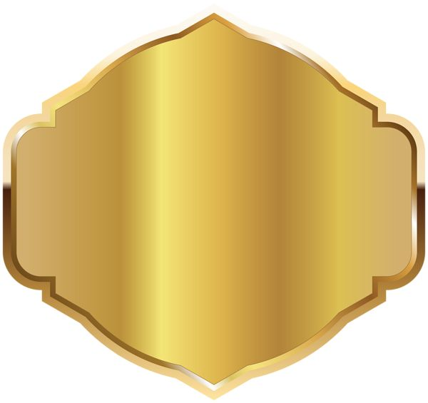 Golden Label Template PNG Clipart Image