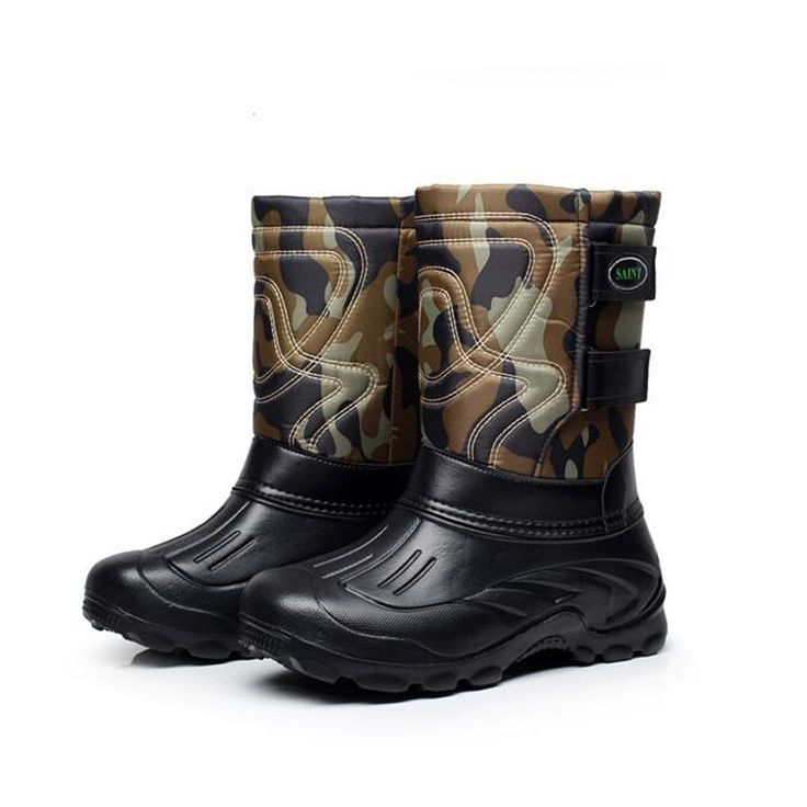 men's Camouflage Hunting Boots Waterproof Fishing Boots Plush Winter Desert Combat Boots Coturnos Masculino Botas Caza AK111217
