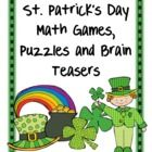 St. Patrick's Day Math Games, Puzzles and Brain Teasers is from Games 4 Learning. It is loaded with St. Patrick's Day math fun.     It includes print...