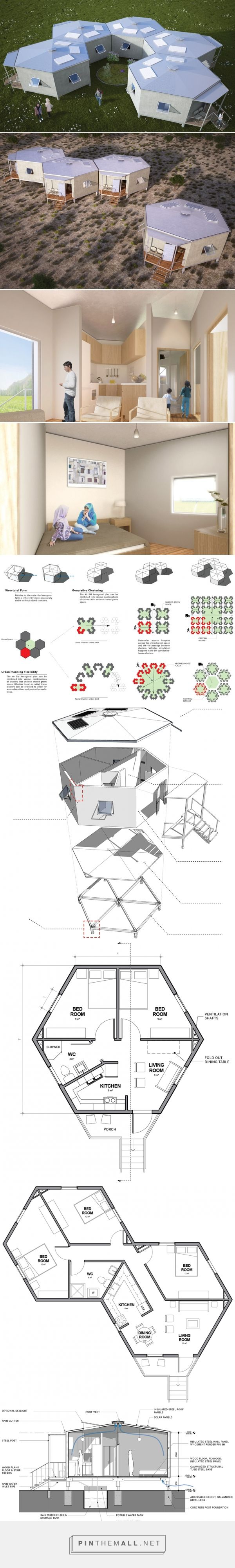 Architects for Society creates low-cost hexagon refugee houses