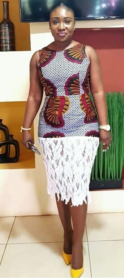 Ankara And Lace Dress African Wear Dresses African