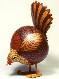 gourd turkey; this is cute - could be made into a chicken too