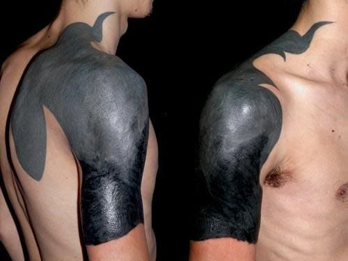BLACKOUT TATTOOS - Google Search | INKED | Pinterest