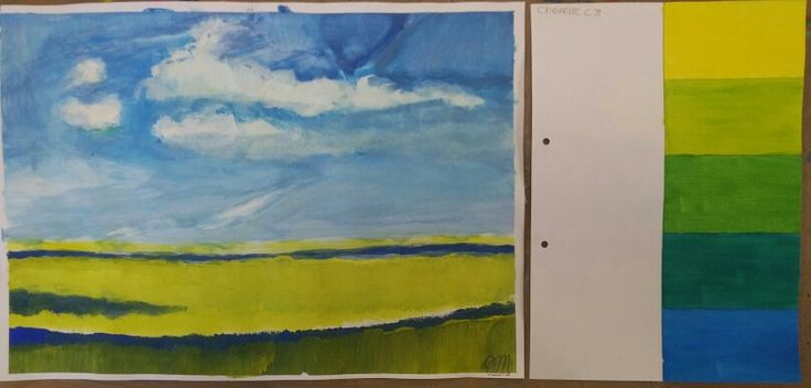 Doel A: Schilder van geel naar blauw in 5 stappen Doel B: Schilder een landschap