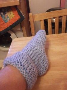 knitted beginner bed socks