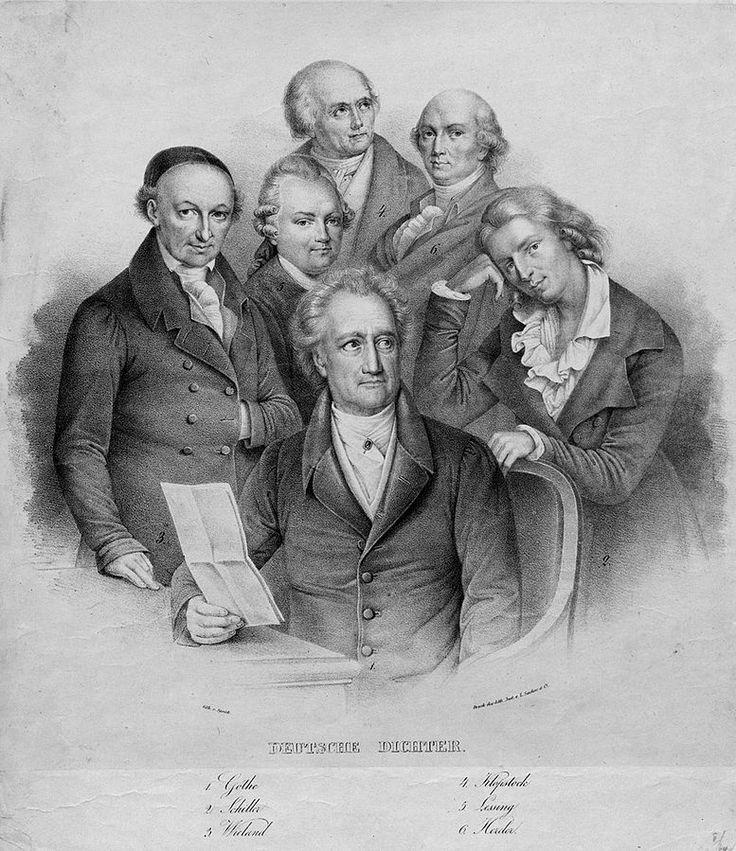 """Friedrich Schiller - 1759 in Weimar am Neckar geboren. Deutscher Dichter, Philosoph und Historiker. Er schrieb Dramen wie """"Maria Stuart"""" und """"Die Jungfrau von Orléans"""". Von seinen lyrischen Werken sind wohl am bekannstesten """"Das Lied von der Glocke"""" und """"Der Handschuh""""."""