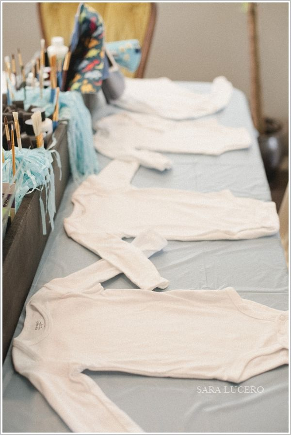 DIY onesie decorating baby shower for my cousin! » sara lucero : blog