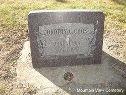 Dorothy C Chose  June 12, 1914 to Sep 7, 1982  Mountain view cemetery livingston Montana